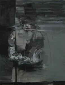 Study of a movement, 2011, oil on linen, 110x85 cm