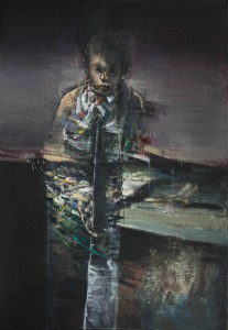 Figure and tree, 2014-15, oil on linen, 130x90 cm