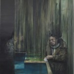 The Curtain,  2012, oil on linen, 205x175 cm