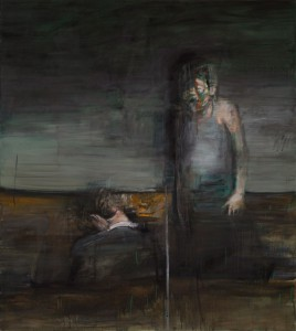 Two figures (Up and Down), 2012, oil on linen, 180x160 cm
