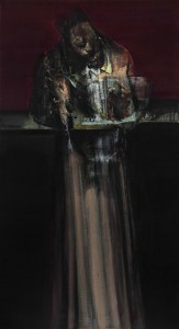 The Dress (Alchemist), 2015-16, oil on linen, 165x90cm