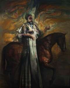 The Equestrian (Alchemist), 2016, oil on linen, 250x200 cm