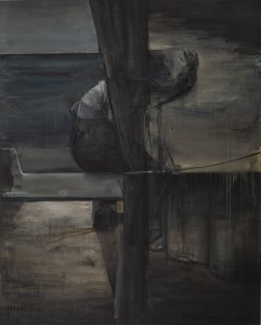 Possible Landscape with a Bench, 2014, oil on linen, 200x160 cm